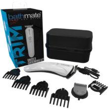 Bild på ett grooming kit med rakapparat och olika munstycken.Bathmate Unisex Grooming Kit.