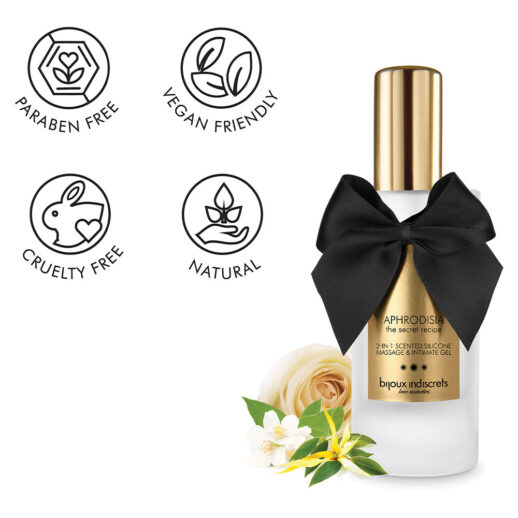 Bijoux Indiscrets 2 In 1 Scented Silicone Massage & Intimate Gel