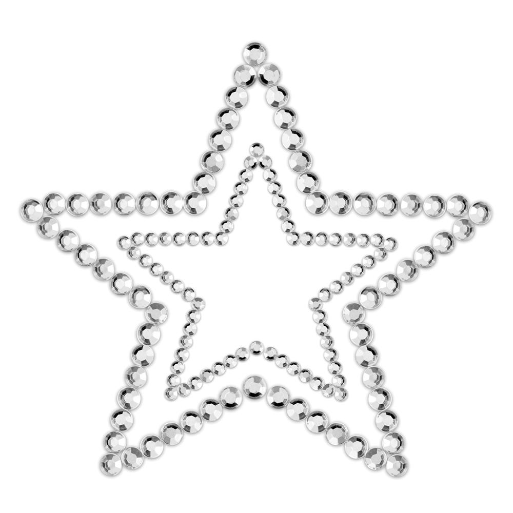 Bröstdekoration Mimi Star Silver