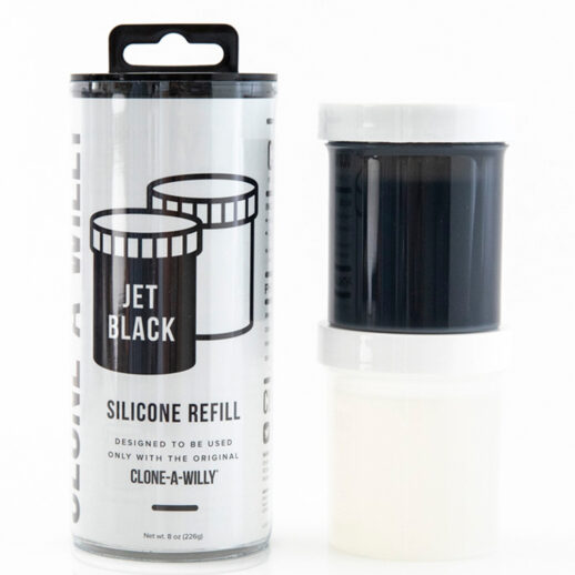 Clone-A-Willy Refill Jet Black Silicone