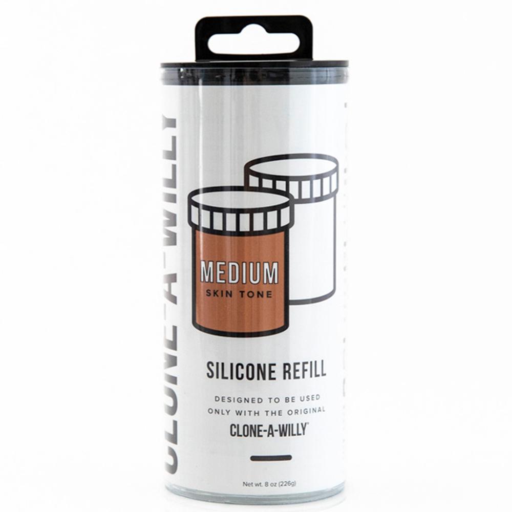 Clone-A-Willy Refill Medium Skin Tone Silicone