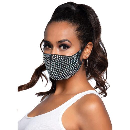 Coco Rhinestone Face Mask