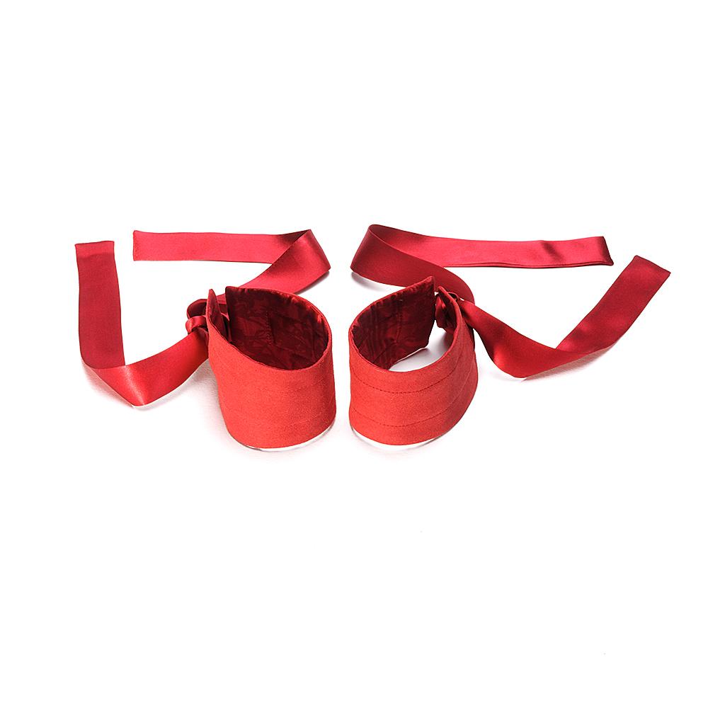 Etherea Silk Cuffs Röd
