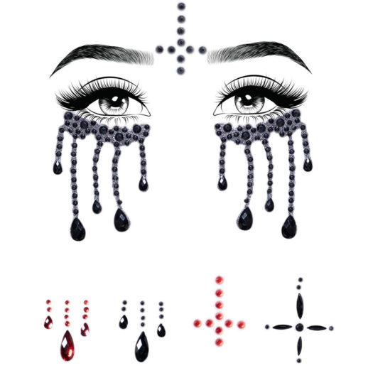 Possessed Face Jewels Sticker