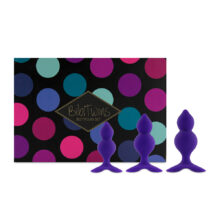 FeelzToys Bibi Twin Butt Plug Set Purple