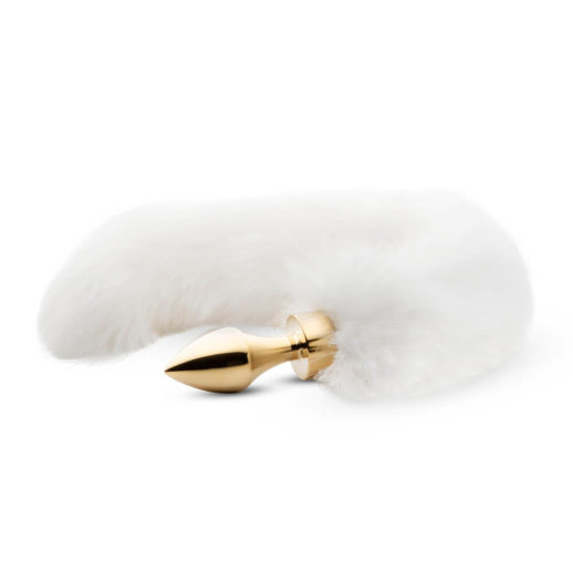 Fox Tail Plug No. 13 Gold/White