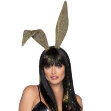Glitter Bunny Ear Headband Guld är en maskeraddräkt med kaninöron