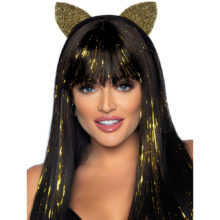 Glitter Cat Ear Headband Guld