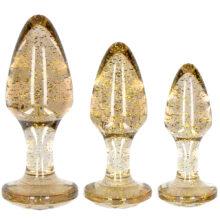 Golden Glitter Butt Plug Set