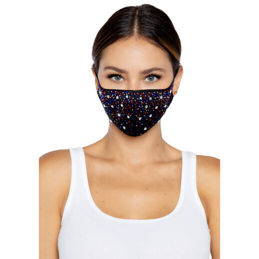 Liberty Rhinestone Face Mask ska sitta över ditt vanliga munskydd