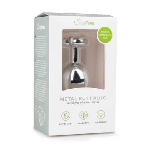 Metal Butt Plug No. 7 Silver/Clear