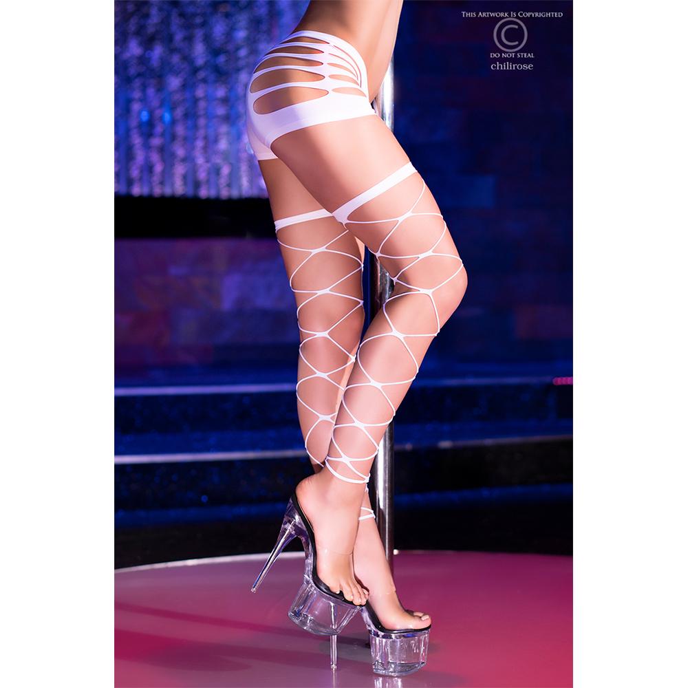 Neon White Stockings