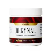 Bild på kosttillskott från Orgynal. Orgynal Tranbär för urinvägsbesvär.
