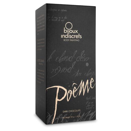 Bild på Poeme Body Painting Dark Chocolate. En kroppsfärg med med tillhörande fjäder.