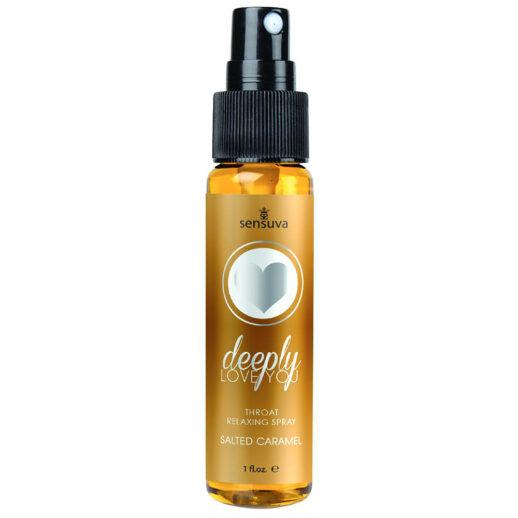 Throat Relaxing Spray Salted Caramel gör dig redo inför oralsex