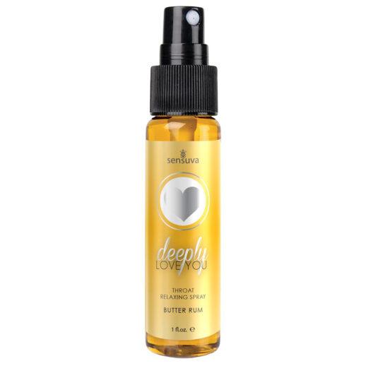 Throat Relaxing Spray Butter Rum gör halsen avslappnad inför oralsex