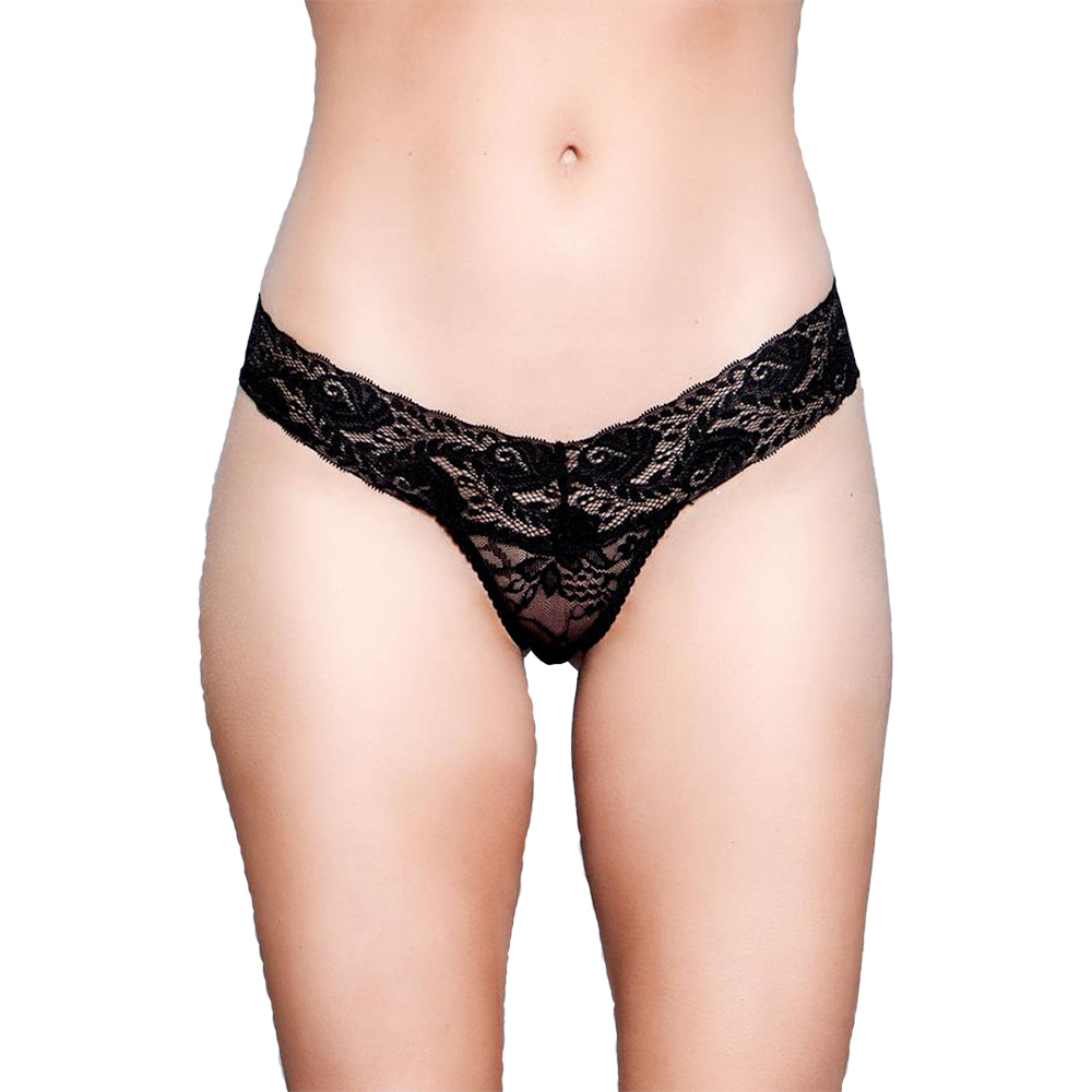 V-Cut Lace Panties Svart (Storlek: Small) | Trosor | Intimast.se - Sexleksaker
