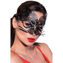 Chili Rose Mask 4326 är en ansiktsmask i metall. Här på ett kvinnoansikte.