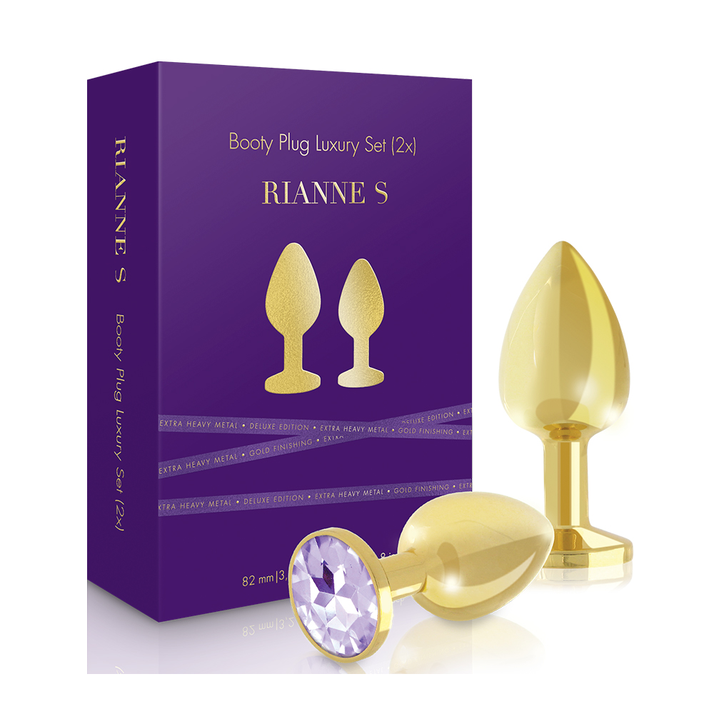 Rianne S Booty Plug Luxury Set Gold