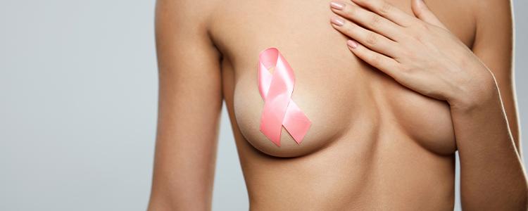 bild med bröst och loggan för bröstcancer